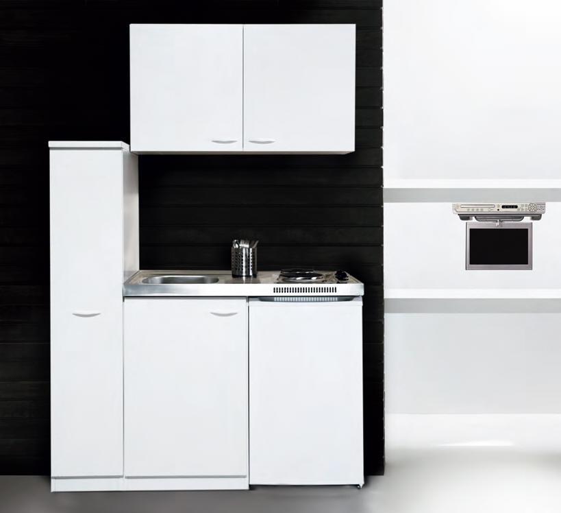 k chenblock mk 130 wos mit apothekerschrank k hlschrank weiss ebay. Black Bedroom Furniture Sets. Home Design Ideas