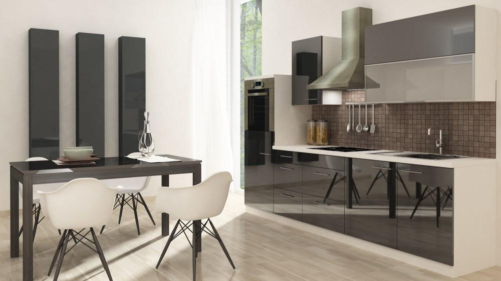 respekta küchenzeile küchenblock rp280awc 280 weiss hochglanz mit