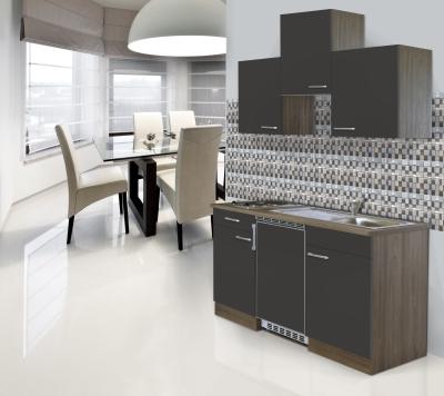 Küchenblock 150 KB150EYG Eiche York Front grau