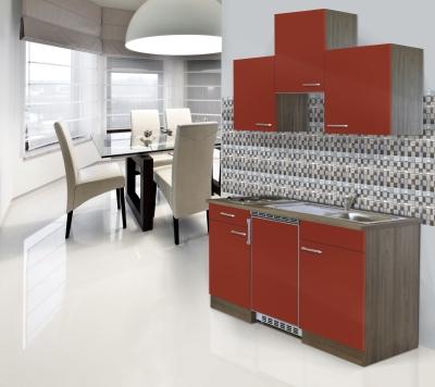 Küchenblock 150 KB150EYR Eiche York Front rot