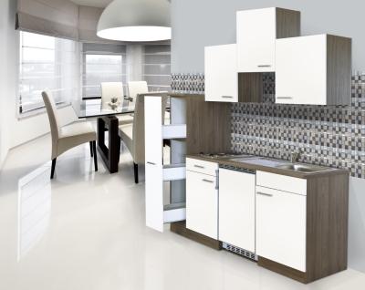 Küchenblock 180 KB180EYW Eiche York Front weiss