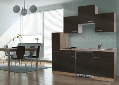 Küchenblock 180 KB180ESG Eiche hell Front grau