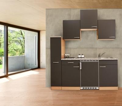 Küchenblock 180 KB180BG Buche Front grau
