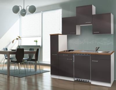 Küchenblock 180 KB180WG weiss Front grau