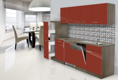 respekta Küchenblock KB225EYR Eiche York Front rot