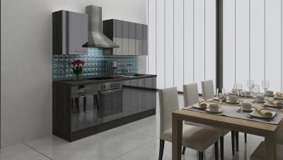 respekta Küchenblock RP220ESC Hochglanz schwarz ohne Kühlschrank