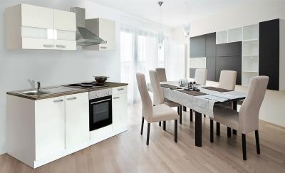 respekta Küchenzeile KB210WW weiss ohne Kühlschrank