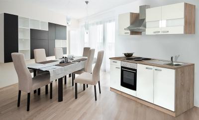 respekta Küchenzeile KB210ESW weiss  ohne Kühlschrank