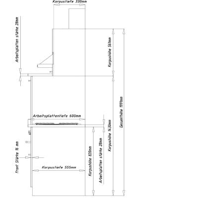 respekta k chenzeile kb220esr rot ohne k hlschrank. Black Bedroom Furniture Sets. Home Design Ideas