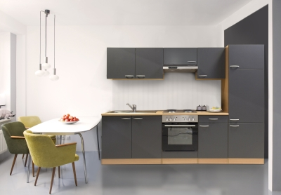 respekta Küchenzeile KB270BGE grau Buche