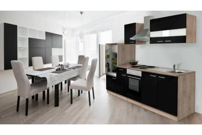 Küchenblock 270 schwarz  Eiche KB270ESS