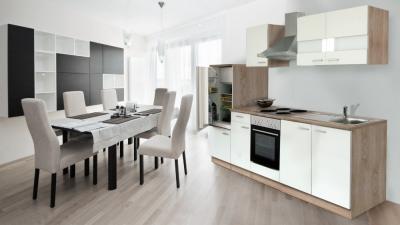 Küchenblock 270 weiss Eiche KB270ESW