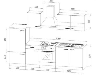 Küchenblock 270 rot KB270WR