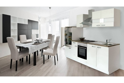 Küchenblock Küchenzeile 270 weiss KB270WW