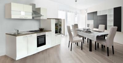 Küchenblock Küchenzeile weiss KB300WW 3 m breit
