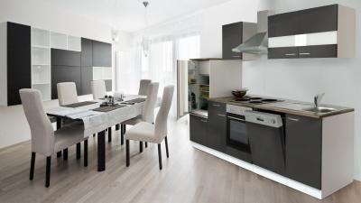 Küchenblock Küchenzeile 280 Grau KB280WG