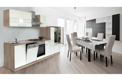 Küchenblock Küchenzeile 310 weiss eiche KB310ESW