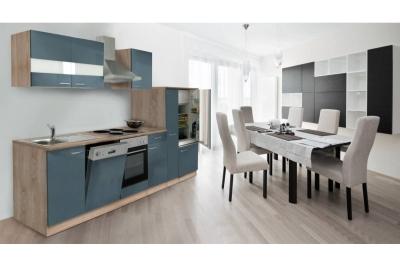 Küchenblock Küchenzeile 310 grau eiche KB310ESG