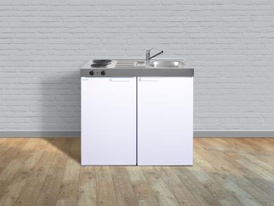 Miniküche MK 100 E-Pantry links Becken rechts