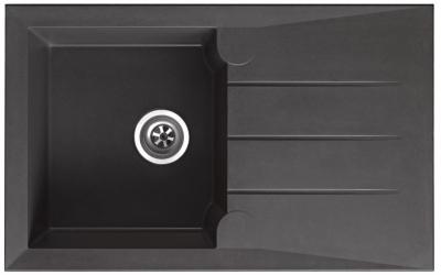 respekta Granitverbundspüle Alinéo 81 x 50 titanium grau