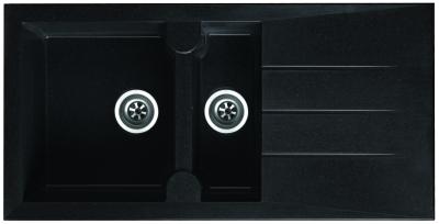 respekta Granitverbundspüle Alinéo 100 x 50 schwarz