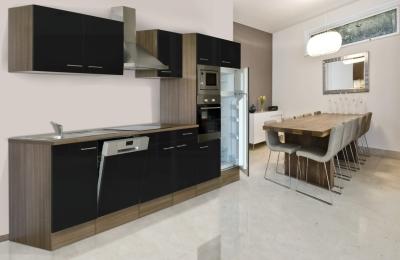 respekta Küchenzeile KB340EYSMIGKE Eiche York Nachbildung - Front Dickkante 1,2 mm schwarz