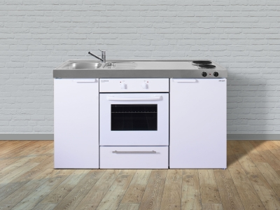 Miniküche MKB 150 E Pantry rechts  Becken links mit Backofen