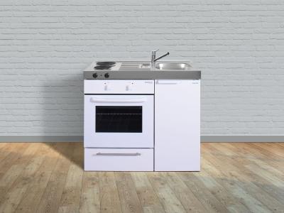 Miniküche MKB 100 E Pantry links Becken rechts mit Backofen