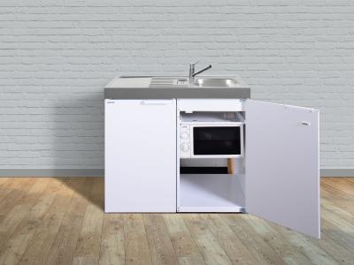 Miniküche MKM 100 Tee-Pantry links Becken rechts mit Mikrowelle