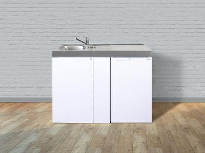 Miniküche MK 120 Tee-Pantry rechts Becken links ohne Kochfeld