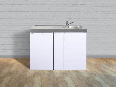 Miniküche MK 120A Tee Pantry links Becken rechts ohne Kochfeld