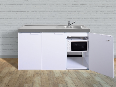 Kleinküche MKM 150 Tee Pantry  links Becken rechts ohne Kochfeld mit Mikrowelle