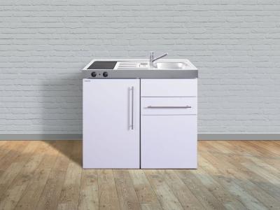 Miniküche MP 100S Glaskochfeld links Becken rechts