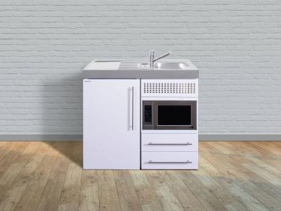 Miniküche MPM 100 Tee Pantry links Becken rechts Mikrowelle