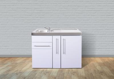 Miniküche MP 120A Tee Pantry rechts Becken links Apothekerauszug