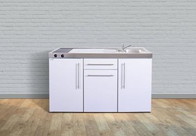 Miniküche MP 150 Glaskochfeld links Becken rechts