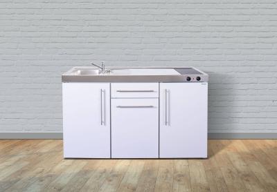 Miniküche MP 150 Glaskochfeld rechts Becken links