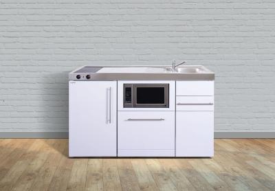 Miniküche MPGSM 150 Glaskochfeld links Becken rechts Geschirrspüler
