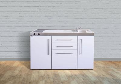 Miniküche MPGS 150 Glaskochfeld links Becken rechts Geschirrspüler