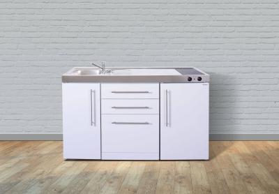 Miniküche MPGS 150 Glaskochfeld rechts Becken links Geschirrspüler