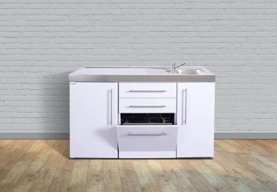 Miniküche MPGS 150 Tee Pantry links Becken rechts Geschirrspüler