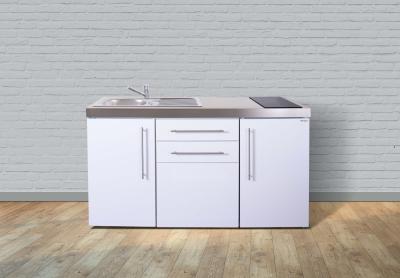 Miniküche MP 160 Glaskochfeld rechts Becken links