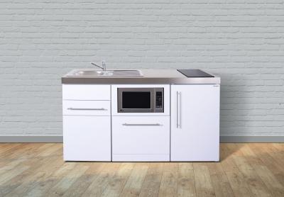 Miniküche MPGSM 160 Glaskochfeld rechts Becken links Geschirrspüler