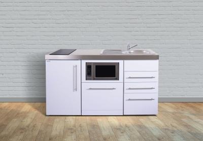 Miniküche MPGSMS3 160 Glaskochfeld links Becken rechts Geschirrspüler