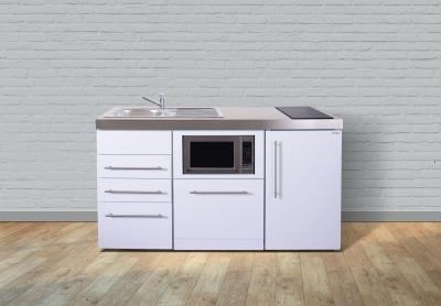 Miniküche MPGSMS3 160 Glaskochfeld rechts Becken links Geschirrspüler