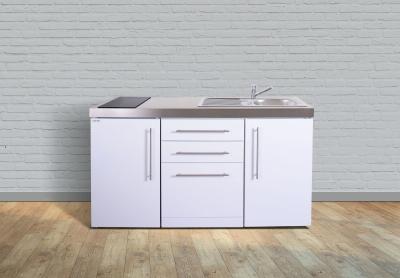 Miniküche MPGS 160 Glaskochfeld links Becken rechts Geschirrspüler
