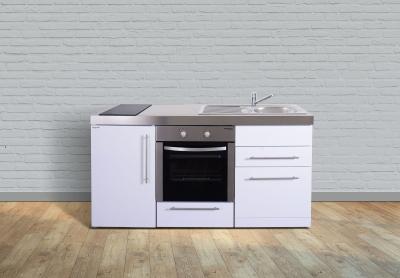 Miniküche MPBGS 170 Glaskochfeld links Becken rechts Geschirrspüler