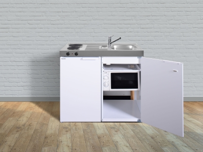 Miniküche MKM 100 E-Pantry links Becken rechts