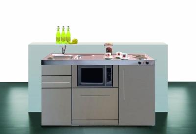 Miniküche MPGSMES 150 Glaskochfeld Kühlschrank Geschirrspüler