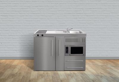 Miniküche MPMES 120 Auszug Glaskochfeld Kühlschrank Mikr